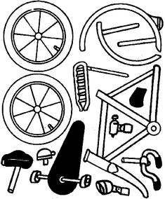 Papercraft bike - Cut-Out Middle School Activities, Stem Activities, Classroom Activities, Dramatic Play Themes, Kids Connection, Bicycle Safety, Kids Part, History For Kids, Preschool Printables