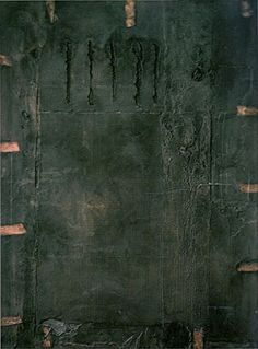 My all-time favorite Tapies painting!!!  I could look at it forever.