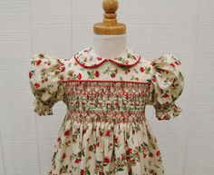 Smocked dress toddler girl size 3t red and by ForTheLoveOfSmocking