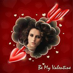 Fotoefecto Be My Valentine para personalizar gratis.