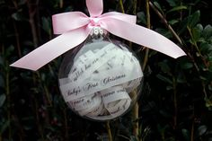 Baby's First Christmas Ornament, Christmas Ornaments,first Ornament, Personalized Ornaments, Glass Ornaments, Custom Christmas Ornament on Etsy, $15.00