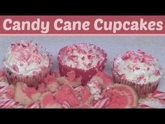 ▶ Candy Cane Cupcakes How To - Holiday DIY