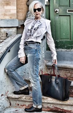Best Outfits For Women Over 50 - Fashion Trends 40s Fashion, Over 50 Womens Fashion, Fashion Over 40, Fashion Models, Vintage Fashion, Fashion Trends, Fashion Tips, Cheap Fashion, Fashion Women