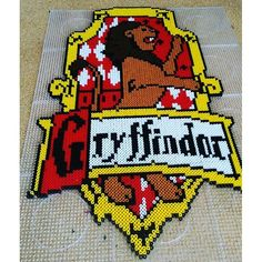 Gryffindor - Harry Potter hama perler beads by Anca