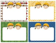 유치원이름표 / 어린이집메모지 : 네이버 블로그 Printable Tags, Name Tags, Writing Paper, Classroom Decor, Kindergarten, Playing Cards, Names, Kids Rugs, Templates