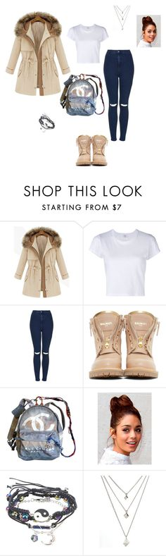 """""""Untitled #153"""" by vic-valdez on Polyvore featuring RE/DONE, Topshop, Balmain and Chanel"""