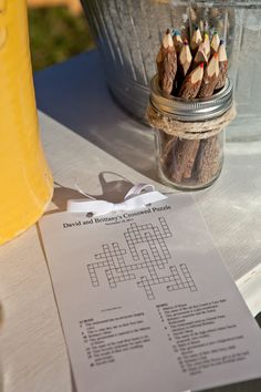 cross word puzzle for ceremony Puzzle Party, Crossword Puzzles, Event Planning Design, 80th Birthday, Italy Wedding, Wedding Stationary, Wedding Planner, Dream Wedding, Invitations