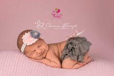 Ruffle Diaper Cover - Baby Lace Bloomer Set Newborn Headband and Bloomers Newborn Photo Outfit Cake smash outfit-Newborn Ruffle Diaper cover