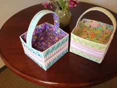 Plastic canvas Easter baskets