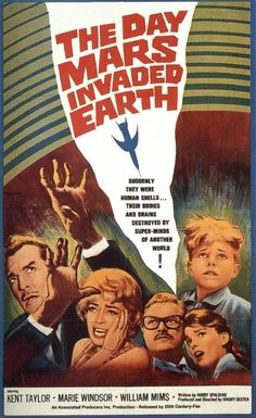Martian Invasion! Mars movie posters in honor of Curiosity.