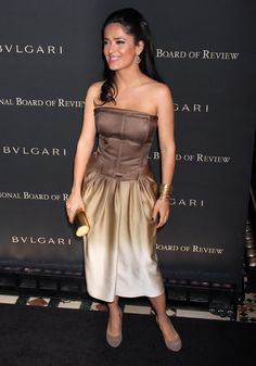 Salma Hayek Bangle Bracelet - Salma chooses a stack of bangles that perfectly complements her dress.