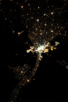Cairo and the Nile Delta.  Taken October 1, 2013.  KN from space.