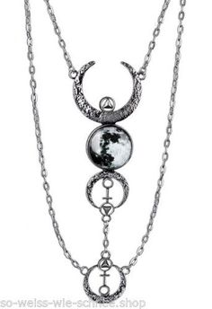 Restyle-Halskette-Mondphasen-Gothic-Mond-Moon-Sailor-Necklace-Occult-Steampunk