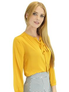 Relished Corinne Yellow Long Sleeve Blouse