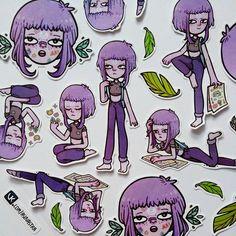 Заказ на кастомные стикеры с персонажем для стикерпаблосика (っ˘ω˘ς ) #stickers