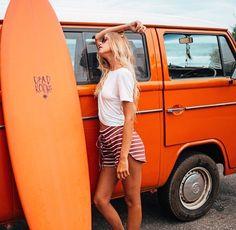 orange car and board