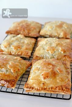 Japanese Chicken Curry Puff Pastry Pies