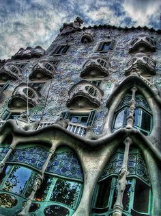 Casa Batlló ~ This building was designed by Antoni Gaudi & is one of the masterpieces of the Art Noveau architecture in Barcelona.