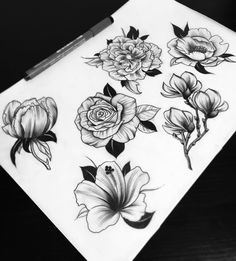 """Flowersheet II. Now with even more black.  #blacktattooart #blxckink #btattooing #blacktattooing #blackworkers #blackworkerssubmission #homemadetatts…"""