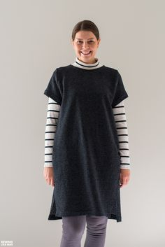 Sewing Like Mad: Winter Version of Inari Tee Dress.