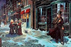A Christmas Carol-Charles Dickens- re-write to adapt Christmas past, present, and future for family presentation Scrooge A Christmas Carol, Christmas Carol Charles Dickens, Ghost Of Christmas Past, Christmas Scenes, Noel Christmas, Victorian Christmas, Christmas Pictures, Vintage Christmas, Father Christmas