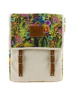 MöHeap Flower Burst Globby Backpack by Modernaked Creative Bag, Retro Bike, Top Backpacks, Gadgets And Gizmos, Printed Bags, Travel Backpack, Natural Leather, Diy Fashion, Bag Making