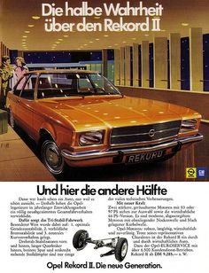 Retro Ads, Vintage Ads, Opel Rekord D, Mercedes Benz, Auto Union, Volkswagen, Buick Electra, Reliable Cars, Gm Car