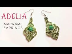 Macrame jewelry set tutorial - The Adelia earrings - Hướng dẫn thắt hoa . Macrame Earrings Tutorial, Micro Macrame Tutorial, Macrame Bracelet Tutorial, Necklace Tutorial, Earring Tutorial, Macrame Necklace, Macrame Bracelets, Diy Earrings, Jewelry Patterns