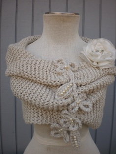 bridal Wedding Shrug Very Versatile  Design Of Mine  sm by deniz03, $124.00