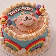 Pretty Birthday Cakes, Pretty Cakes, Cute Cakes, Beautiful Cakes, Amazing Cakes, Fancy Cakes, Mini Cakes, Cupcake Cakes, Cake Cafe