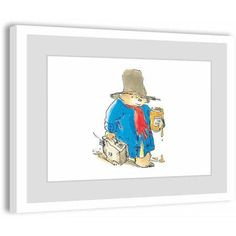 Paddington Bear Sticky Bear Framed Art Print, Size: 24 inch x 16 inch, Multicolor