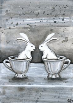 rabbit tea party ~ by erin morgenstern ~ http://erinmorgenstern.com