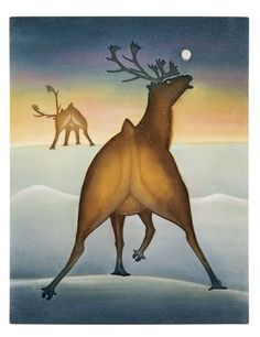 Night Call, by Kananginak Pootoogook (Inuit artist), Cape Dorset, 2005