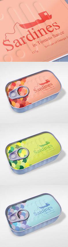 sardine packaging design by zuchna