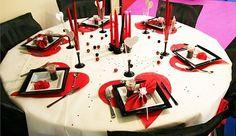 décoration de table mariage rouge                              …