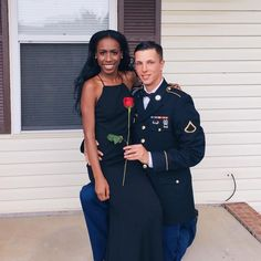 Gorgeous interracial military couple #love #wmbw #bwwm #swirl #military #lovingday #relationshipgoals