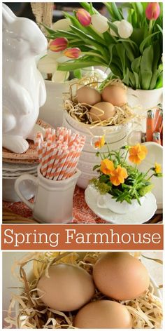 Loving orange in all it's hues in the farmhouse kitchen!