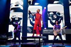 Adam Lambert performs live on stage at Eventim Apollo on April 14, 2016 in London, England.