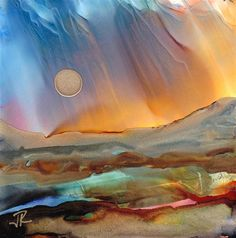 """Dreamscape No. 265"" - Original Fine Art for Sale - © June Rollins"