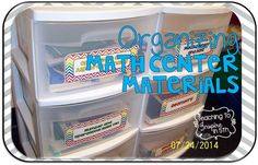 Tips for Organizing Math Center Materials for Upper Elementary