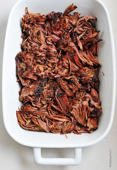 Balsamic Roast Beef - slow cooker  Ingredients:  1 3-4 pound boneless roast beef  1 cup beef broth  ½ cup balsamic vinegar  1 tablespoon Worcestershire sauce  1 tablespoon soy sauce  1 tablespoon honey  ½ teaspoon red pepper flakes  4 cloves garlic, chopped - yummy!! But accidentally used pork... Ha