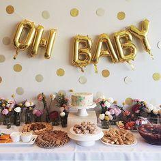 Beautiful baby shower inspiration via Flower Baby Showers, Pop Baby Showers, Boho Baby Shower, Baby Shower Fall, Baby Shower Cakes, Baby Boy Shower, Shower Party, Baby Shower Parties, Baby Shower Themes