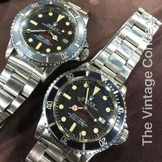"""Double Double Red Sea-Dweller 1665 Mk4 & Mk3"""