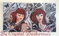 "Custom Painting I did for my ""Beautiful Liza"" — Blessings Studio, by Crystal Desharnais.. She is #allabouthatbase too!"