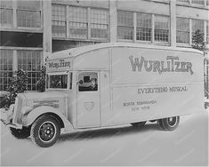 Wurlitzer Truck North Tonawanda NY Plant 8x10 Reprint Of Old Photo The Wurlitzer was the iconic jukebox of the Big Band era, to the extent that Wurlitzer came in some places to be a generic name for a