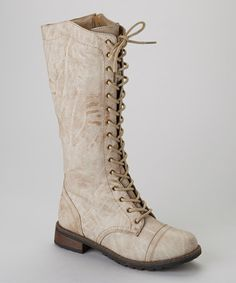 Take a look at this Beige Pisa 17 Boot by Jacobies Footwear on #zulily today!   ............................LOVE!