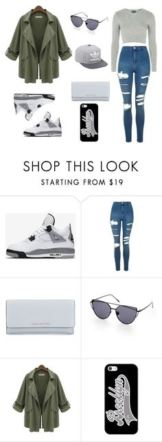 """""""Jordäns"""" by vicgibbons ❤ liked on Polyvore featuring NIKE, Topshop, MICHAEL Michael Kors, adidas, Chicnova Fashion and Casetify"""