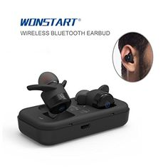 Wonstart W302 True Wireless Bluetooth EarbudsTiny Earpods Comes with Charging Case CSR64110 Bluetooth Chipset Surround Stereo Music With Mic ** Check this awesome product by going to the link at the image.-It is an affiliate link to Amazon.
