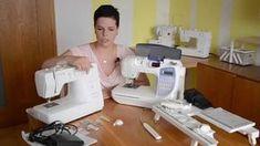 Šití pro začátečníky - Vše o šicím stroji Fabric Stamping, Couture, Sewing Clothes, Techno, Diy And Crafts, Quilts, Pattern, Handmade, Coloring