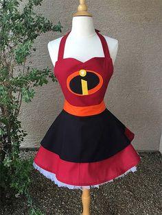 L/XL - Incredibles costume apron dress Fantasia Disney, Cosplay Diy, Cosplay Dress, Incredibles Costume, Disney Aprons, Dress Up Aprons, Cute Disney Outfits, Cool Aprons, Apron Designs